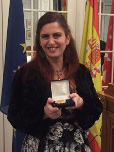 Medalla Oro Foro Europa 2001 a Isabel Cortes del Valle